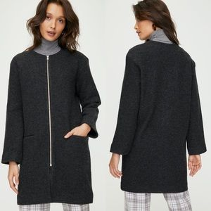 Wilfred Banville Grey Jacket Merino Wool Shacket